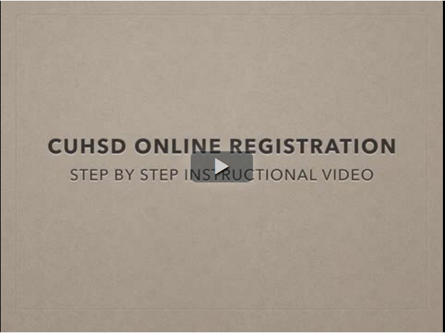 Image of CUHSD Online Registration Instructional Video